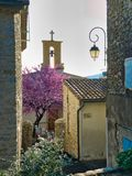 Village street in south of France royalty free stock photo