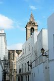 Village street, Vejer de la Frontera. Royalty Free Stock Image