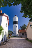 Village street view for Ottenby lighthouse Royalty Free Stock Photo