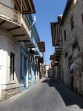 Village streets. A street in the village of Lefkara, Cyprus stock images