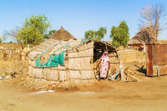 Village in Sudan Stock Photography