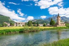 Village suisse de Sils Maria photos libres de droits