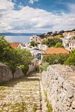 Stone path to Sumartin Brac Stock Photo
