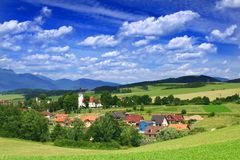 Village in Summertime Stock Photos