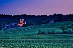 Village sur Champagne Route France photo stock