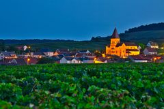 Village sur Champagne Route France photos stock