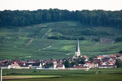 Village sur Champagne Route France photo libre de droits