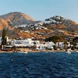 Village sur l'île de Kythnos photographie stock