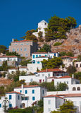 Village sur l'île de l'hydre, Grèce Photographie stock libre de droits