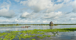 Village sur l'eau Images libres de droits