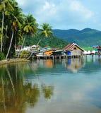Village sur l'eau Photos stock