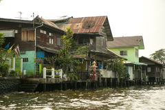 Village sur l'eau Photo stock