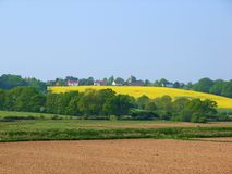 Village sur la côte photographie stock