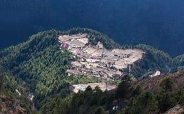 Village sur le chemin au camp de base d'Everest, Népal Image libre de droits