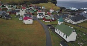 Village sur les Iles Féroé banque de vidéos
