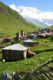 Village in mountains Stock Photos