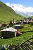 Village in mountains Stock Photos