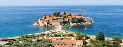 The village of Sveti Stefan Stock Images