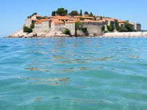 The village of Sveti Stefan Royalty Free Stock Photos