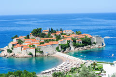 The village of Sveti Stefan Royalty Free Stock Photos