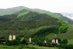 Village in the Swanetia region in Georgia Royalty Free Stock Photos