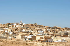 Village Tamezret in Tunisia Stock Photo