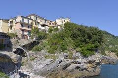 Village of Tellaro in Italy Stock Image