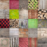 Village Textures. Textures found in village household, set of 25 different textures. Old wooden patterns, fabric, blankets, roof tiles, burlap and similar. Every Stock Photo