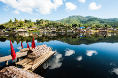 Village thaïlandais de Rak d'interdiction Photo stock