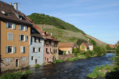 The village of  Thann in Haut Rhin Royalty Free Stock Images