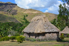 Village thatched house Stock Photo