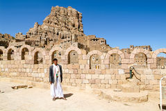 The village of Thula on Yemen Stock Image