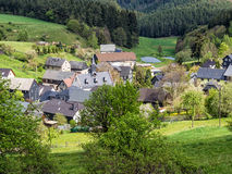 Village in the Thuringian Forest Royalty Free Stock Photos