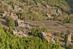Village tibétain Photo libre de droits