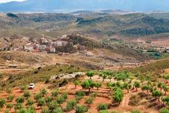 Village Tierga in Zaragoza Province, Aragon, Spain Royalty Free Stock Photo