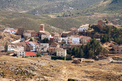 Village Tierga in Zaragoza Province, Aragon, Spain Royalty Free Stock Images