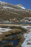 Village of Tignes in french alps Stock Photos