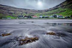 Village Tjørnuvík, in the Faroe Islands
