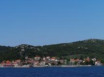 The village Tkon on the island Pasman Stock Image