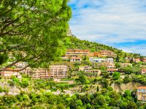 Village at the top of a hill. Provence, France stock photos
