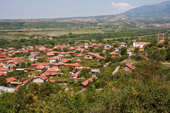 Village Top View. Aerial view of Stob village in Bulgaria Stock Photos