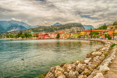 Village of Torbole, Lake Garda, Italy Stock Images