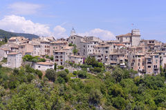 Village of Tourrettes-sur-Loup in France Royalty Free Stock Image