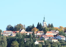 Village with a tower Royalty Free Stock Photography