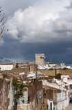 Village and Tower (Tres Coroas) Stock Photo