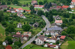 Village or Town from the Air Royalty Free Stock Photos