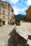 Village town square in Corsica Royalty Free Stock Photo