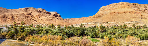 A village with traditional kasbah houses in Ziz Valley, Morocco Stock Images