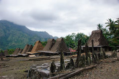 Village traditionnel Bena sur l'île de Flores Image libre de droits