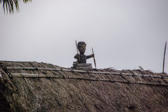 Village traditionnel Bena sur l'île de Flores Photographie stock